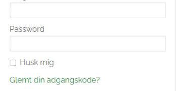 Login-felt på sjaa.dk